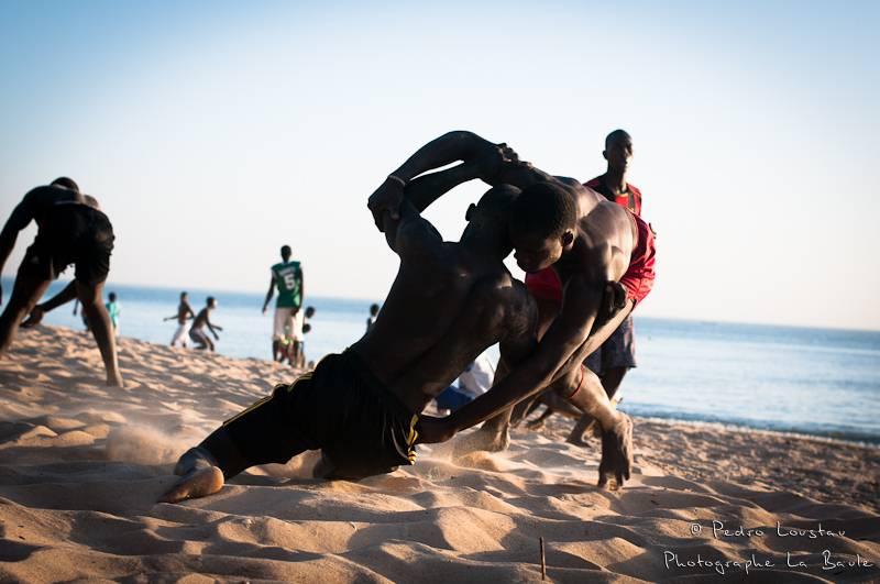 ©pedro loustau, sénégal, afrique, paysage, lutteur, plage,