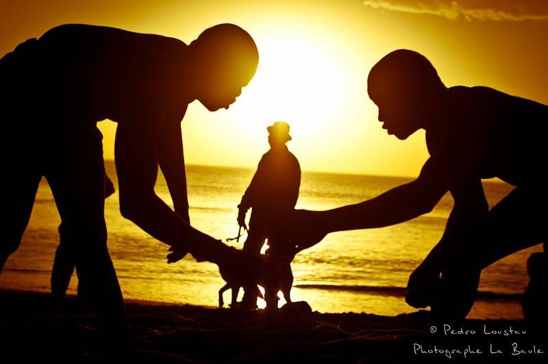 ©pedro loustau, sénégal, afrique, paysage, lutteur, plage, sunset