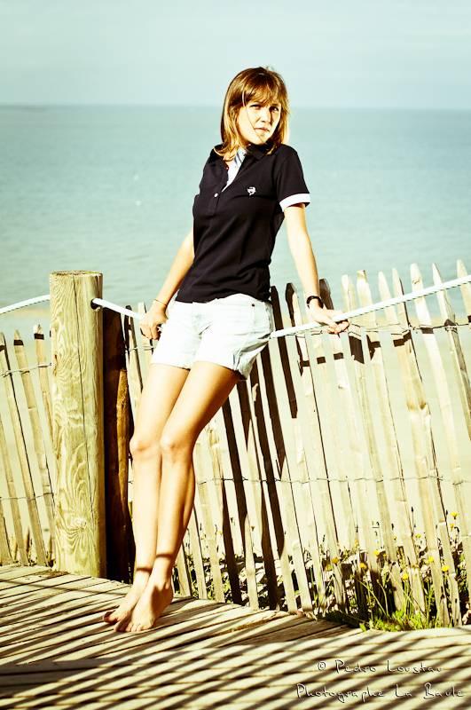 femme sur la plage-photographe-la-baule-nantes-pedro-loustau-