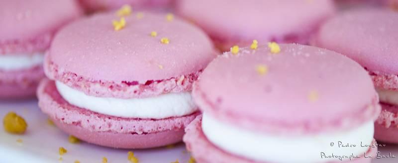 macarons roses en macrophotographie-photographe-la-baule-nantes-pedro-loustau