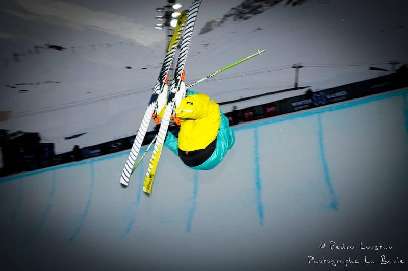 skieur flashé dans le pipe photographe la baule nantes pedro loustau