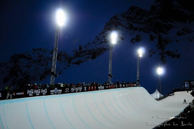 le half pipe des winter X-games de tignes photographe la baule nantes pedro loustau