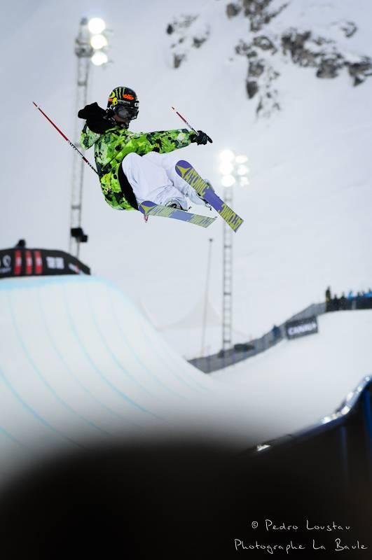 rider en ski dans le pipe photographe la baule nantes pedro loustau