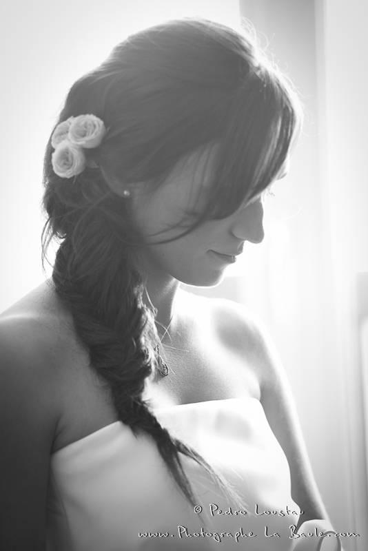 portrait de la mariée lors des préparatif -©pedro loustau 2012- photographe la baule nantes guérande -mariage-