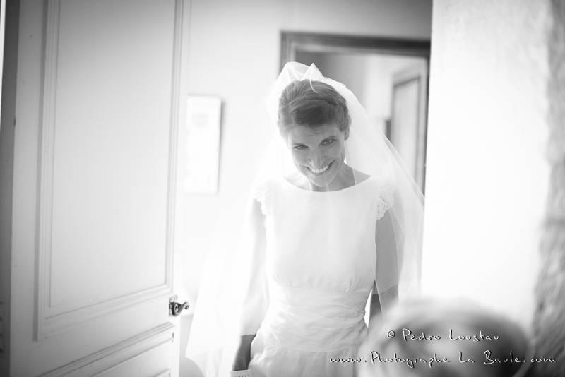black&white bride -©pedro loustau 2012- photographe la baule nantes guérande -mariage-