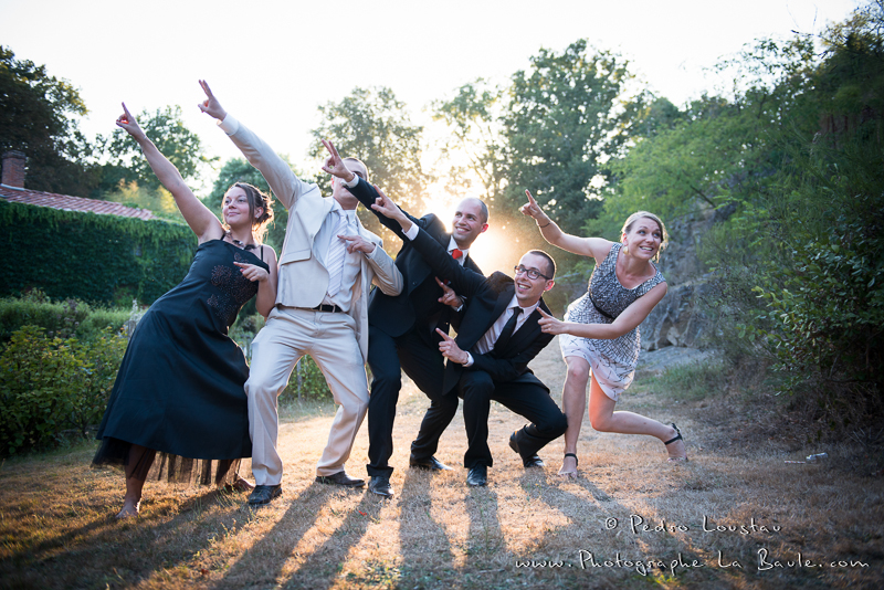 photo de groupe version fun au sunset -©pedro loustau 2012- photographe la baule nantes guérande -mariage-