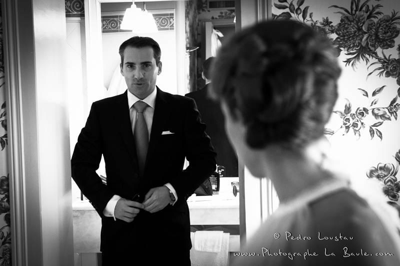 La pression pour le groom aussi -©pedro loustau 2012- photographe la baule nantes guérande -mariage-