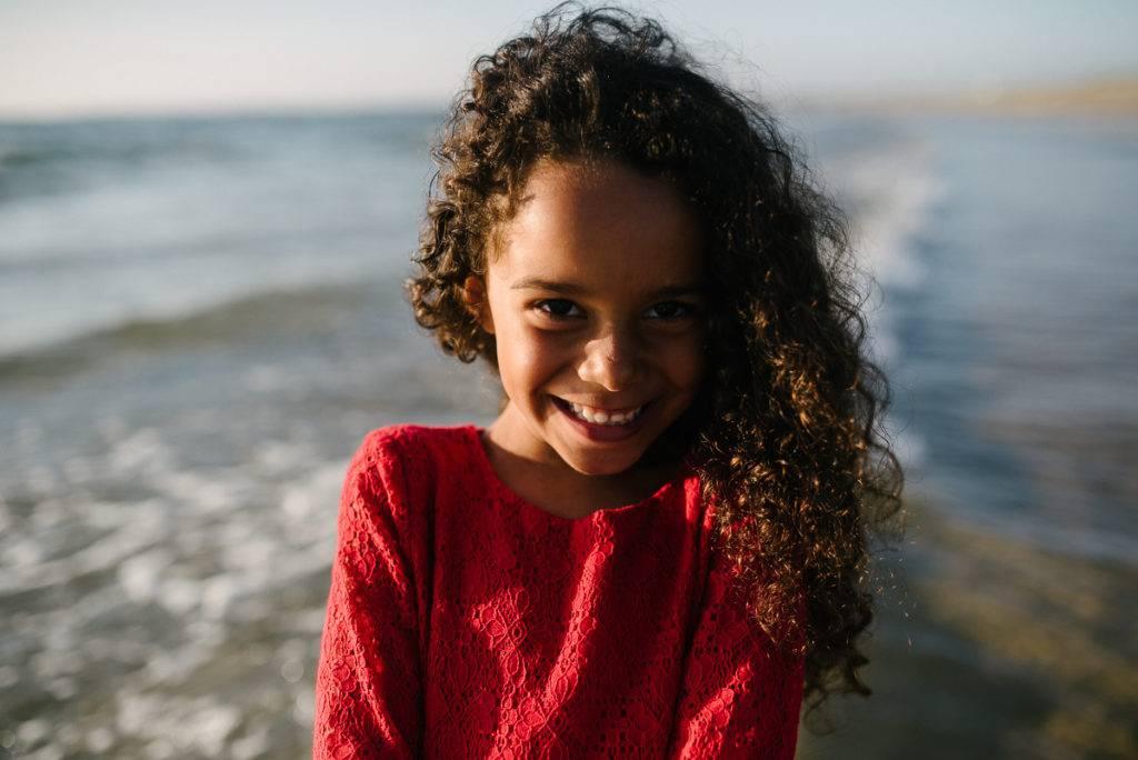 sourire sur la plage - photographe la baule