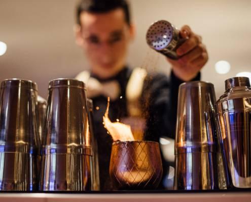 préparation de cocktail magique - photographe la baule