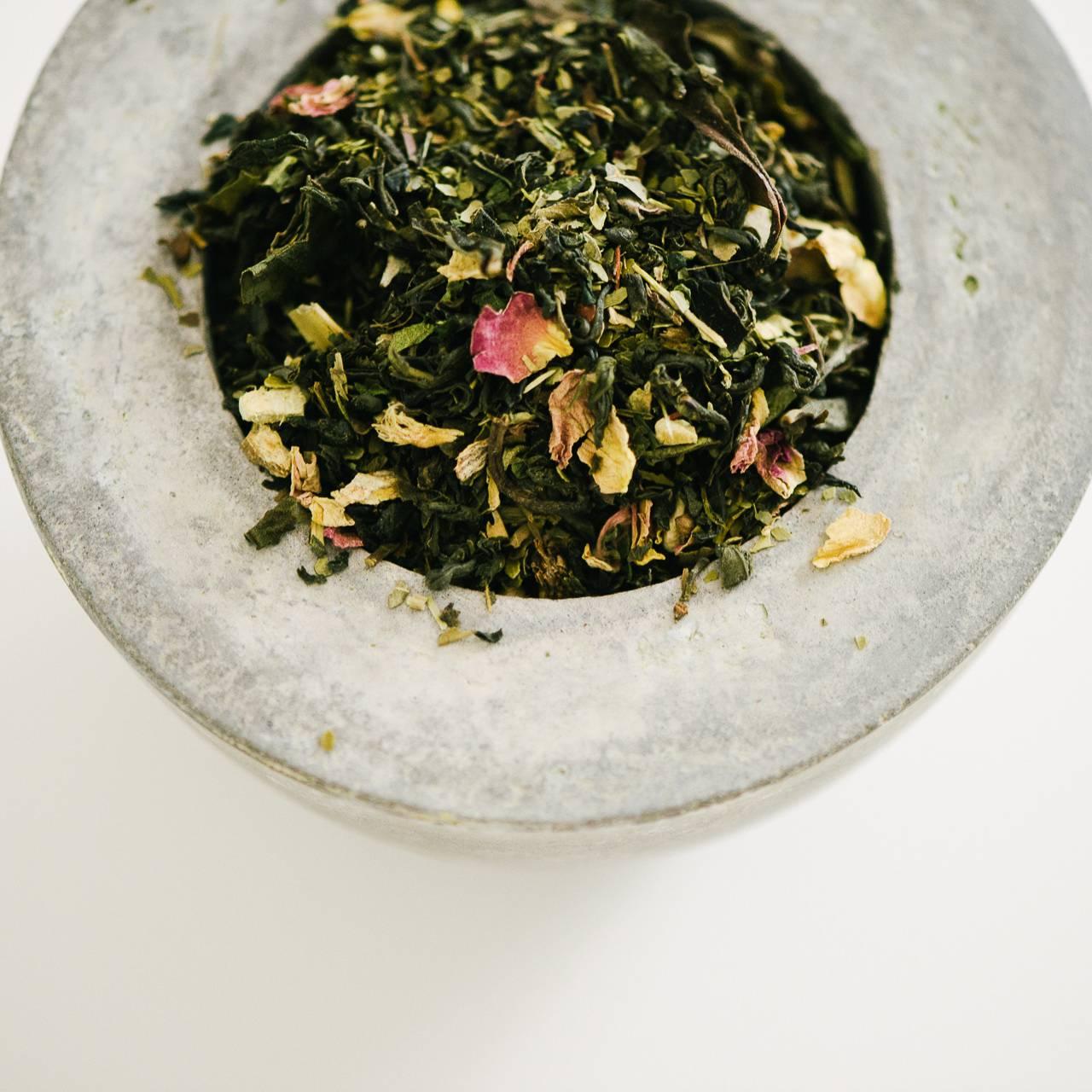 packshot réalisé pour la marque de thé Floréal - photographe la baule