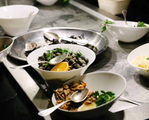 préparation en cuisine - photographe la baule